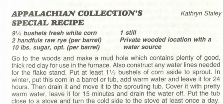 recipe for Appalachian Collection's Special Recipe