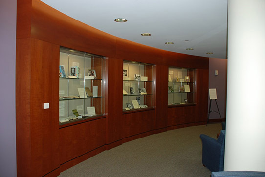 Atrium exhibit cases