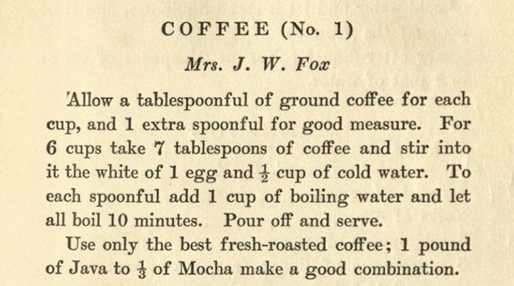 recipe for Coffee