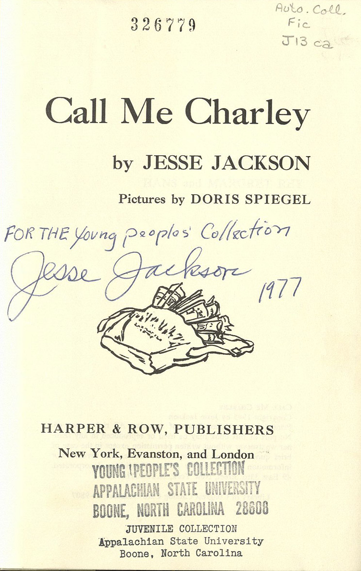 """Call Me Charley"" title page"