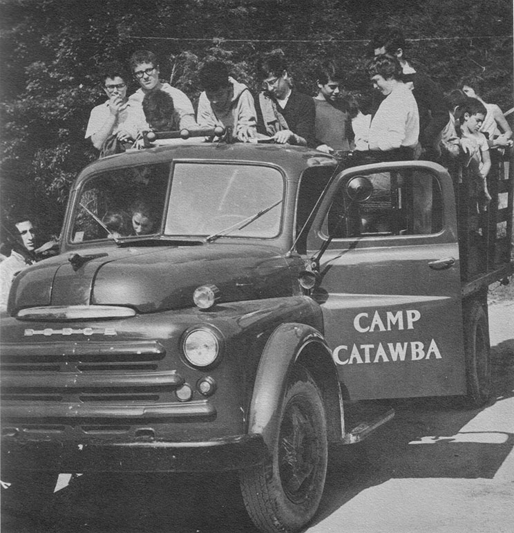 Campers on the Camp Catawba truck