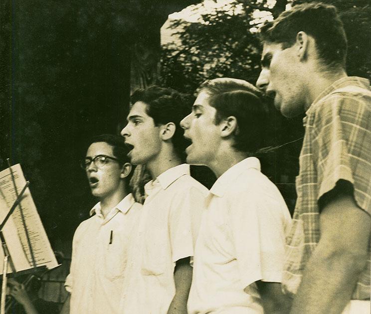 Campers sing