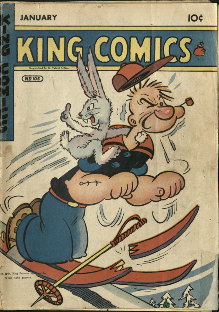 Cover of King Comics showing Popeye