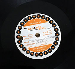 Record label of Doc Abrams' recording of The Suffolk Miracle