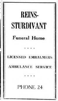 Funeral Home advertisement