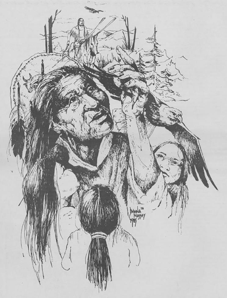 storyteller illustration from Katuah Journal