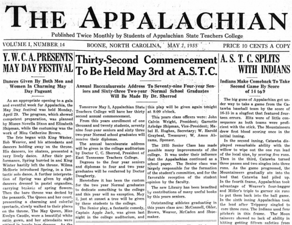 Front page of the May 2, 1935 issue of