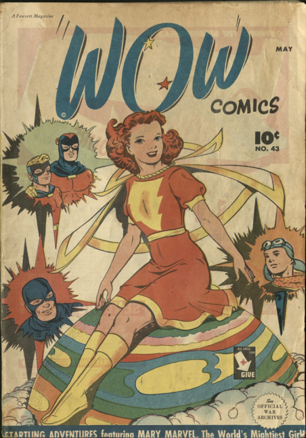 Mary Marvel on the cover of Wow Comics