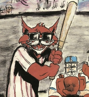 Close-up of a baseball program from the Charleston (West Virginia) Alley Cats