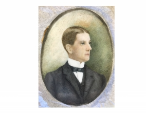 A portrait from the collections, inscribed with the name