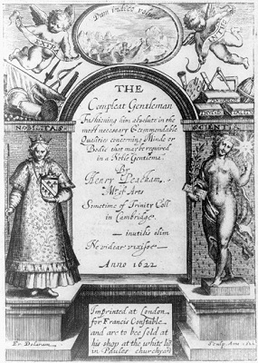 """Title page from Henry Peacham's """"The Compleat Gentleman"""""""