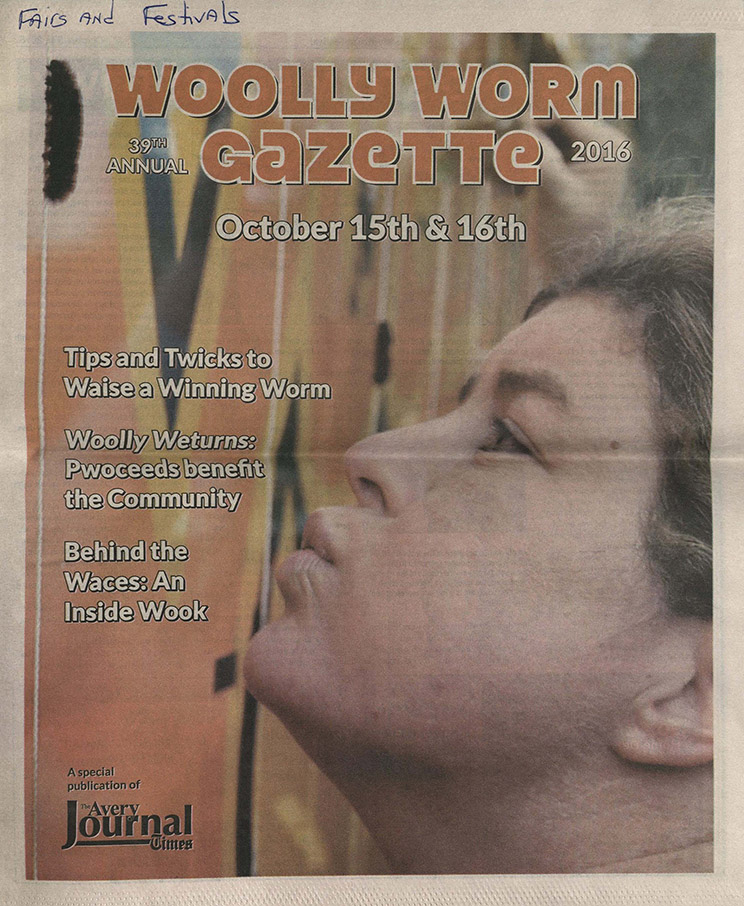 """Cover of The Avery Journal Times """"Wooly Worm Gazette,"""" 2016 October 15 & 16"""