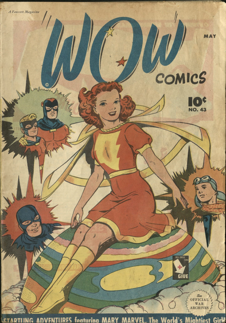 Cover of Wow Comics showing Mary Marvel